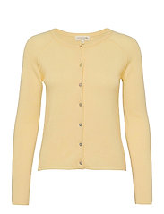 Wool & cashmere cardigan ls - LIGHT VANILLA YELLOW
