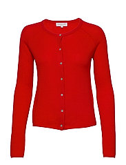 Wool & cashmere cardigan ls - SPICY RED