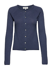 Wool & cashmere cardigan ls - TRUE NAVY