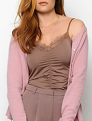 Rosemunde - Wool & cashmere cardigan ls - koftor - zephyr rose - 0