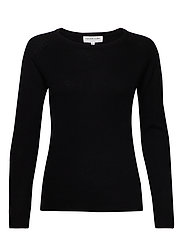 Wool & cashmere pullover ls - BLACK