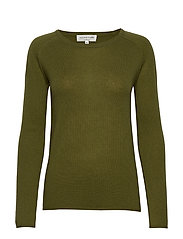 Wool & cashmere pullover ls - LEAF GREEN