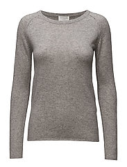 Wool & cashmere pullover ls - LIGHT GREY MELANGE