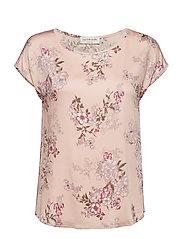 Rosemunde Blouse ss - ROSE FAIRY FLOWERS PRINT