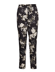 Trousers - BLACK FAIRY FLOWERS PRINT