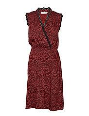 Dress - RED SHADOW LEOPARD PRINT
