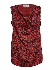 Top - RED SHADOW LEOPARD PRINT