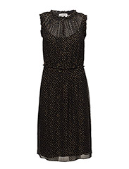 Dress - SHIMMER DOT BLACK PRINT