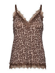 Strap top - CACAO BROWN LEOPARD PRINT