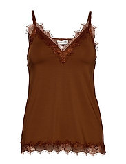 Strap top - AMBER BROWN