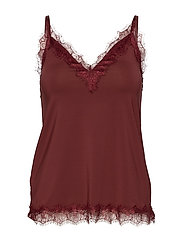 Strap top - CHESTNUT RED