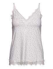 Strap top - IVORY SUMMER DOT PRINT