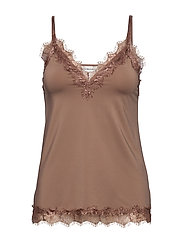 Strap top - NOUGAT BROWN