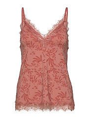 Strap top - ROSE SMALL LEAF PRINT