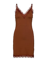 Strap dress - AMBER BROWN