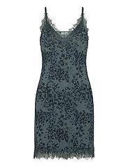 Strap dress - BLUE POET FLORAL PRINT