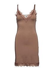 Strap dress - NOUGAT BROWN