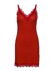 Strap dress - SPICY RED