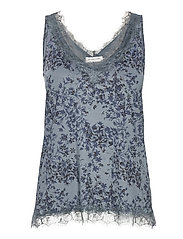 Top - BLUE POET FLORAL PRINT