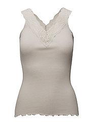 Rosemunde - Silk Top V-Neck Regular W/ Lace