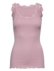 Organic top w/ lace - ELDERBERRY