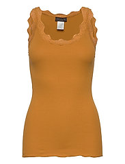 Organic top regular w/ lace - GOLDEN MUSTARD