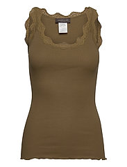 Organic top regular w/ lace - MILITARY OLIVE