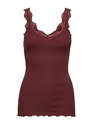 Organic top regular w/ lace - CHESTNUT RED