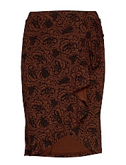 Skirt - AMBER BROWN ROSE PRINT