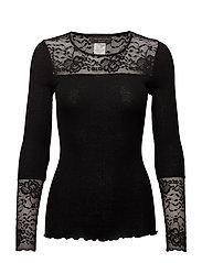 Rosemunde - Silk T-Shirt Regular Ls W/Lace