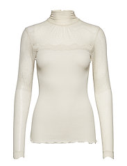 Silk t-shirt turtleneck regular ls - SOFT POWDER