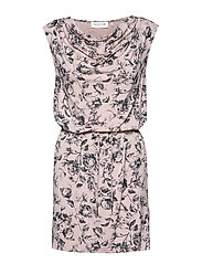 Dress ss - VINTAGE POWDER ROSE PRINT