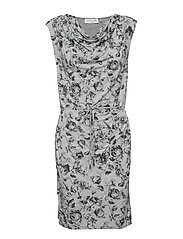Dress ss - GREY VINTAGE ROSE PRINT