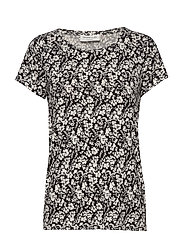 T-shirt ss - IVORY SMALL FLORAL PRINT