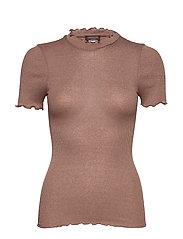 Silk t-shirt regular ss w/lurex - ACORN SHINE