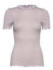 Silk t-shirt regular ss w/lurex - IRIS PURPLE SHINE