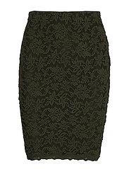 Skirt - BLACK GREEN