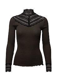 Rosemunde - Silk T-Shirt Regular Ls W/Wide Lace