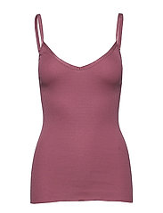 Silk top w/ elastic band reg, lengt - DEEP ROSE