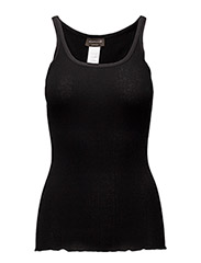 Silk top regular w/elastic band - BLACK