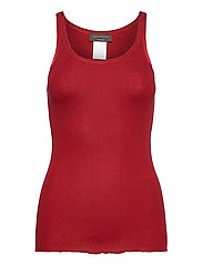Silk top regular w/elastic band - CRANBERRY