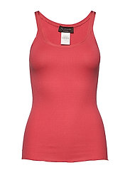 Silk top regular w/elastic band - DARK CORAL