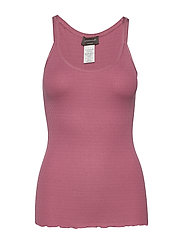 Silk top regular w/elastic band - DEEP ROSE