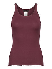 Silk top regular w/elastic band - GRAPE