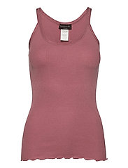 Silk top regular w/elastic band - PALE ROSE
