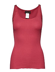 Silk top regular w/elastic band - SCARLET RED