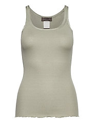 Silk top regular w/elastic band - SEAGRASS