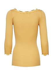 Silk t-shirt boat neck regular w/vi
