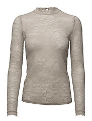 T-shirt regular ls w/lace - ATMOSPHERE
