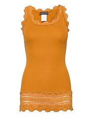 Silk top medium w/wide lace - GOLDEN MUSTARD